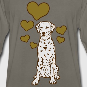 Dalmatian Sitting with Hearts T-Shirts - Men's Premium Long Sleeve T-Shirt