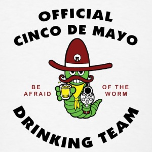 Cinco de Mayo Drinking Team Buttons - Men's T-Shirt