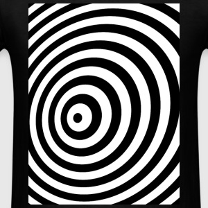 Minimum Geometry Illusion in Black & White(OP-Art) Long Sleeve Shirts - Men's T-Shirt