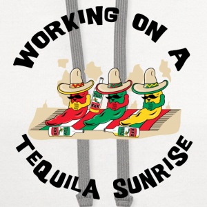 Working On A Tequila Sunrise - Contrast Hoodie
