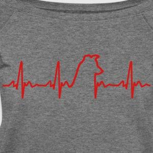 Heartbeat Dog Women's T - Women's Wideneck Sweatshirt