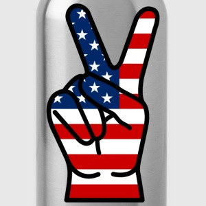 USA Peace Hand T-Shirts - Water Bottle