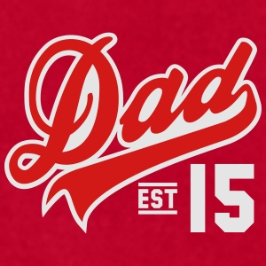 Dad ESTABLISHED 2015 2 Color Daddy Design Mugs & Drinkware - Men's T-Shirt by American Apparel