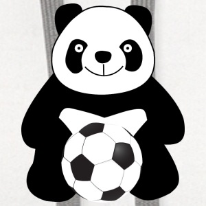 Panda with a soccer ball Baby & Toddler Shirts - Contrast Hoodie