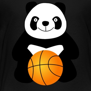 Panda with a basketball ball Kids' Shirts - Toddler Premium T-Shirt