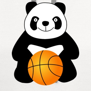 Panda with a basketball ball Baby & Toddler Shirts - Contrast Hoodie