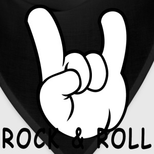 Rock and Roll Devil Horns 50s Band Music Hand Sign - Bandana