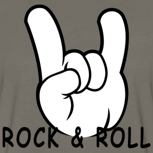 Rock and Roll Devil Horns 50s Band Music Hand Sign - Men's Premium Long Sleeve T-Shirt
