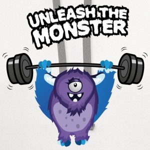 Unleash the beast body builder Women's T-Shirts - Contrast Hoodie