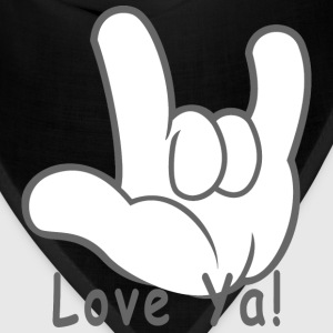 I Love You Hand Sign Love Ya! - Bandana