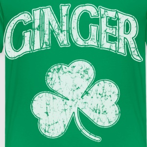 Ginger Shamrock Dark St Patricks Day Kids' Shirts - Toddler Premium T-Shirt