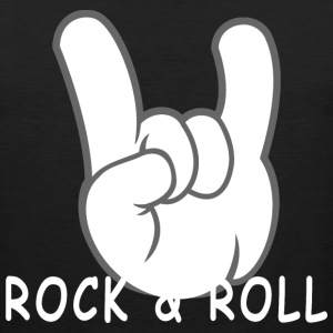 Rock and Roll Devil Horns 50s Band Music Hand Sign - Men's Premium Tank