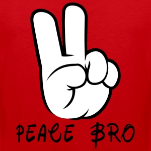 Peace Sign Hand Gesture Peace Brother Bro - Men's Premium Tank