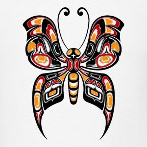 Yellow Haida Butterfly Buttons - Men's T-Shirt