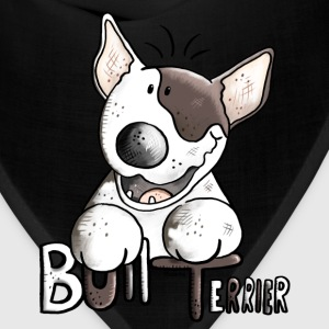 Funny Bull Terrier Long Sleeve Shirts - Bandana