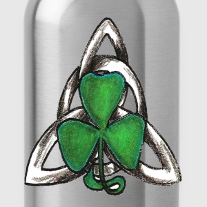 Celtic knot with shamrock - Water Bottle
