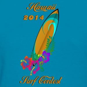 Surfing Contest Hawaii 2014 Surf Tanks - Women's T-Shirt