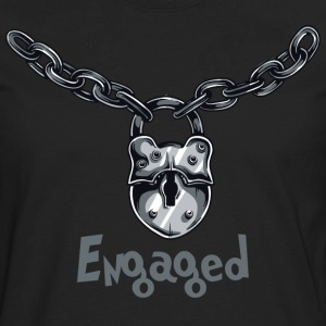 Engaged Engagement Announcement Engagement Party - Men's Premium Long Sleeve T-Shirt
