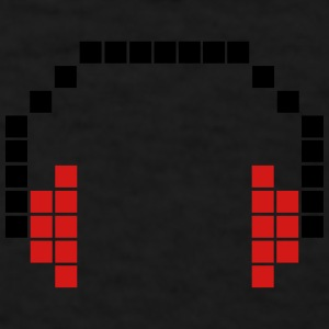 8 Bit Headphones, Pixel Headphones Caps - Men's T-Shirt