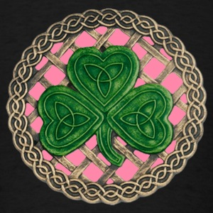 Pink Shamrock And Celtic Knots Hoodie - Men's T-Shirt