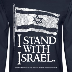 I Stand With Israel T-Shirts - Men's Long Sleeve T-Shirt