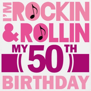 50th Birthday Womens Rock and Roll Women's T-Shirts - Men's Premium Tank