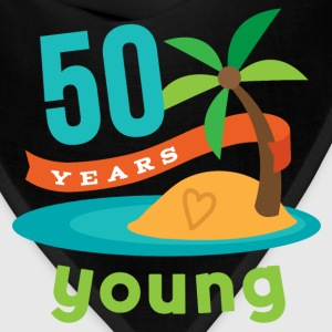 50th Birthday Tropical Island T-Shirts - Bandana