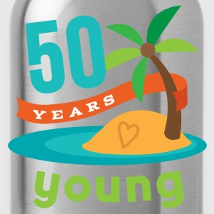 50th Birthday Tropical Island T-Shirts - Water Bottle