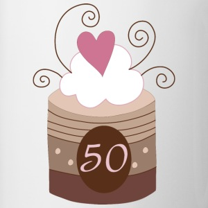 50th Birthday Cake Design Women's T-Shirts - Coffee/Tea Mug