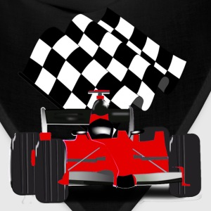 Red Race Car with Checkered Flag - Bandana