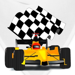 Yellow Race Car with Checkered Flag - Bandana