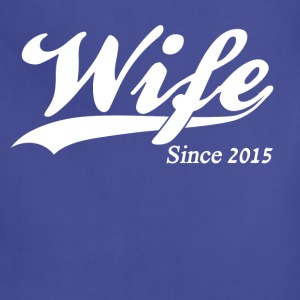 Wife Since 2015 Women's T-Shirts - Adjustable Apron