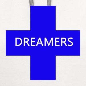 dreamer blue white T-Shirts - Contrast Hoodie