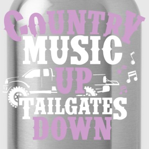 Country Up, Tailgates Down - Tank - Water Bottle