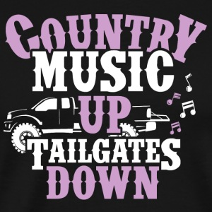 Country Up, Tailgates Down - Tank - Men's Premium T-Shirt