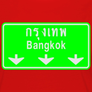 Bangkok Ahead ~ Watch Out! Thailand Traffic Sign - Women's Premium Long Sleeve T-Shirt