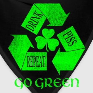 Drink Piss Repeat Go Green Tees - Bandana