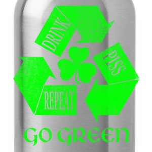 Drink Piss Repeat Go Green Tees - Water Bottle