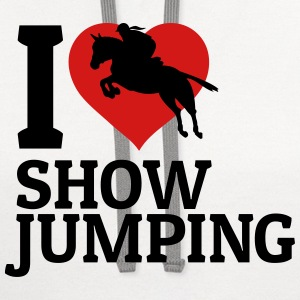 I love showjumping T-Shirts - Contrast Hoodie