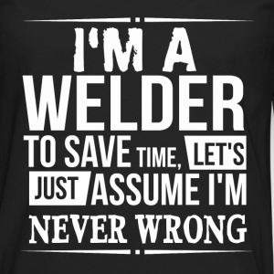 welder T-Shirts - Men's Premium Long Sleeve T-Shirt