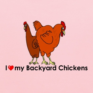 I Heart My Backyard Hens - Kids' Hoodie
