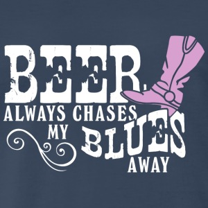 Beer Chases My Blues Away Tanks - Men's Premium T-Shirt