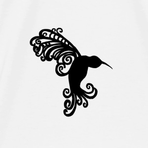Decorative Hummingbird Silhouette - Men's Premium T-Shirt