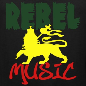 rebel music T-Shirts - Men's Premium Tank