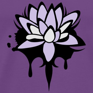 Lotus flower graffiti Hoodies - Men's Premium T-Shirt