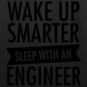 Wake Up Smarter - Sleep With An Engineer Women's T-Shirts - Eco-Friendly Cotton Tote