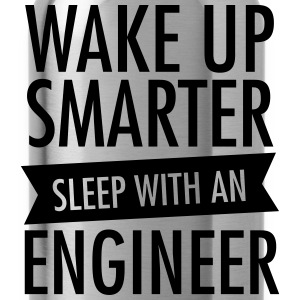 Wake Up Smarter - Sleep With An Engineer Women's T-Shirts - Water Bottle