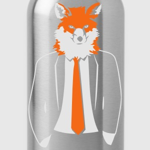 Fox in Suit T-Shirts - Water Bottle
