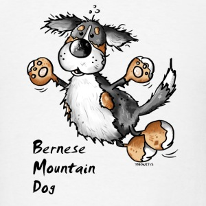 Funny Jumping Bernese Mountain Dog Mugs & Drinkware - Men's T-Shirt