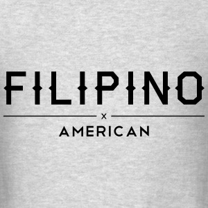 Filipino American Hoody Sweatshirt - Men's T-Shirt